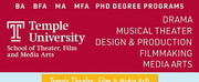 Temple University Offers Theater, Film, and Media Arts Programs