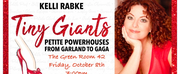 Kelli Rabke Goes Solo With TINY GIANTS On October 8th at The Green Room 42