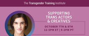 The Transgender Training Institute Hosts Supporting Trans Actors & Creatives Workshop Photo