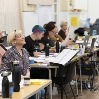 Photo Flash: Inside Rehearsal For CITY OF ANGELS at the Garrick Theatre Photo