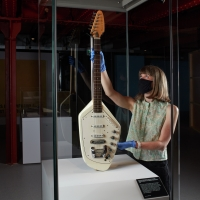 Photo Flash: Ian Curtis' Iconic Guitar Returns To Manchester For Exhibition Photos