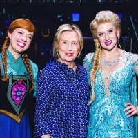 Photo Flash: Hillary Clinton Visits FROZEN on Broadway