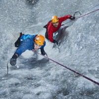 Photo Flash: Actors Prep for TOUCHING THE VOID Photo