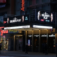 Up on the Marquee: A SOLDIER'S PLAY Photo