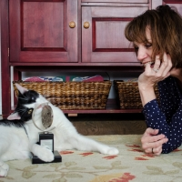 Tails of Broadway: Beth Leavel Plays Around with Malcolm! Photo