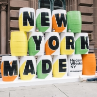 Photo Flash: The Public Theater and Hudson Whiskey Team Up for Barrel Art Instal Photos