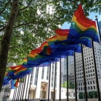Photo Flash: Rainbow Flags Fly at Rockefeller Center in Celebration of Pride Photo