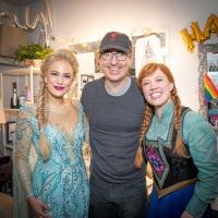 Photo Flash: John Oliver Visits FROZEN on Broadway