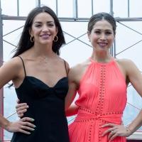 Photos: CHICAGO Stars Bianca Marroqu?n & Ana Villafa?e Light Up the Empire State Buil Photo