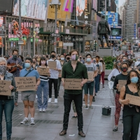 Photo Flash: Artists Gather in Times Square for Be An #ArtsHero Campaign