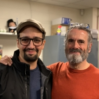 Photo Flash: Lin-Manuel Miranda Visits FIDDLER ON THE ROOF IN YIDDISH Photo