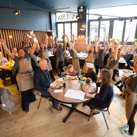 Photo Flash: WAITRESS Cast Members Treat PizzaExpress Customers to Surprise Performance