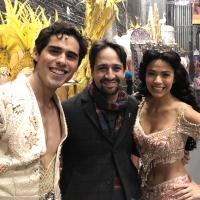 Photo Flash: Lin-Manuel Miranda Stops By ALADDIN on Broadway Photo