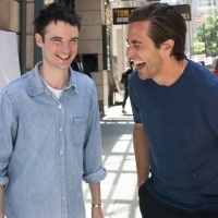 Photo Flash: Jake Gyllenhaal And Tom Sturridge Stop By To Check Out The New Marquee For SEA WALL / A LIFE