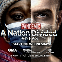 ABC News Announces PANDEMIC - A NATION DIVIDED Photo
