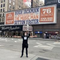 PHOTO: Hugh Jackman Visits The Winter Garden Theatre, Future Home of THE MUSIC MAN Photo