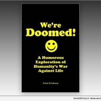 Azaria Press Releases WE'RE DOOMED!: A Humorous Exploration of Humanity's War Against Life Photo