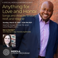 BWW Previews: MEROLA RECITAL: ANYTHING FOR LOVE AND HONOR at Home Computer Screens Photo