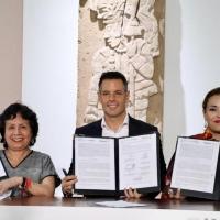 Gobierno del Estado y el INBAL firman convenio parafortalecer la educación, la produ Photo