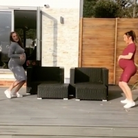 VIDEO: Pregnant Sisters Chloe and Lauryn Goodman Perform the 'Baby Mama Dance'