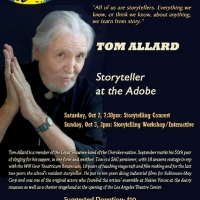 The Adobe Theater Presents LIVE! TOM ALLARD Story Telling and Workshop in October Photo