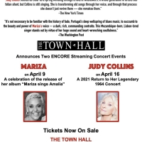 Judy Collins and Mariza Encore Streaming Concerts to be Presented by The Town Hall Photo