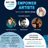 Off The Lane To Host First Annual EMPOWER ARTISTS Virtual Fundraiser Featuring Daniel Photo