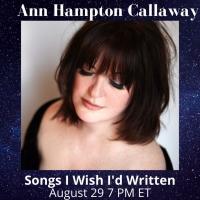 Ann Hampton Callaway to Present Live Stream This Sunday Photo