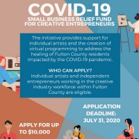 Fulton County Arts & Culture Announces Second Round Of COVID-19 Relief Funding For Artists Photo