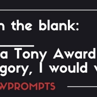 BWW Prompts: If [Blank] Was A Tony Award Category, I Would Win! Photo