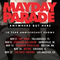 Mayday Parade Announces 'Anywhere But Here' 10th Anniversary Shows