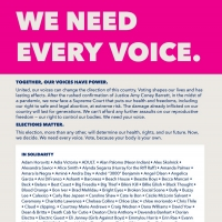 Planned Parenthood 'We Need Every Voice' Campaign Launches With Over 200 Musicians Photo