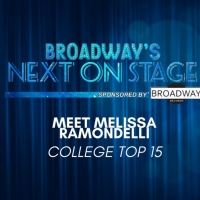 Meet the Next on Stage Top 15 Contestants - Melissa Ramondelli