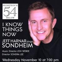 I KNOW THINGS NOW: JEFF HARNAR SINGS SONDHEIM is Coming to Feinstein's/54 Below Photo