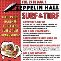 ZEPPELIN HALL in Jersey City Hosts Surf & Turf Fest 2/27 to 3/8
