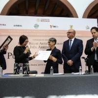 Pura López Colomé Recibió El Premio Bellas Artes Inés Arredondo Por Su Amplia Ruta Li Photo