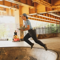 Skateboarders and Actors Present A SKATE PLAY in Local Skate Park Photo
