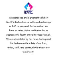 Fortress Festival Announces Postponement of Fourth Annual Music Festival