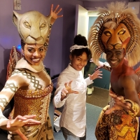 Photo Flash: GROWN-ISH Star Yara Shahidi Visits THE LION KING Photo