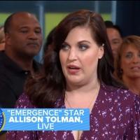 VIDEO: Allison Tolman Talks EMERGENCE on GOOD MORNING AMERICA!