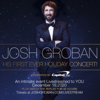 Josh Groban Presents First Ever Holiday Concert Streaming This Weekend Photo