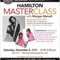 HAMILTON Dance Captain And Original Cast Member Morgan Marcell Offers Live Maste Photo