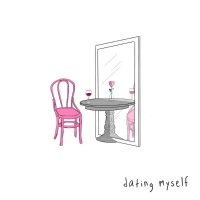 sad alex Celebrates the Single Life with 'dating myself' Photo