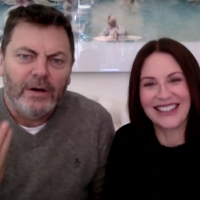 VIDEO: Nick Offerman & Megan Mullally Talk About How They Met on LATE NIGHT WITH SETH Photo