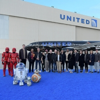 See the Cast of STAR WARS Pose With a Skywalker-Themed Aircraft