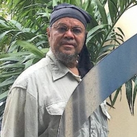 Bernard Stanley Hoyes Delivers Symbolic Spiral Steel Sculpture To Jamaica During The  Photo