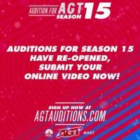 AMERICA'S GOT TALENT Season 15 Auditions Re-Open Online