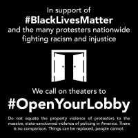 PHOTOS: Open Your Lobby Initiative Shares Maps of Theaters Open to Protesters Today