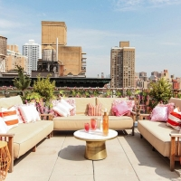 MONDRIAN TERRACE Transforms to Rosé Terrace for Spring Party on 3/20