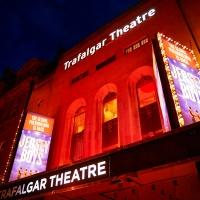 Trafalgar Theatre Lights Up in Red to Mark Year Anniversary That Theatres Went Dark Photo